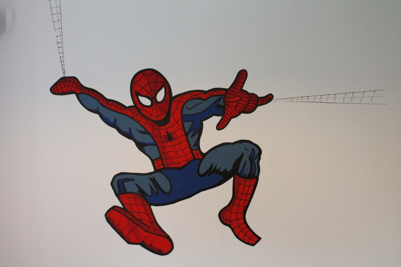 Spiderman Wall Mural spiderman wall mural - ian ball painting and decorating